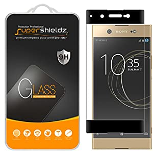 "Supershieldz for Sony ""Xperia XA1 Ultra"" Tempered Glass Screen Protector, [Full Screen Coverage][3D Curved Glass] Anti-Scratch, Bubble Free, Lifetime Replacement Warranty  (Black)"