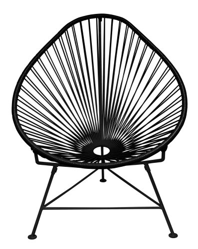 Cheap  Innit Designs Acapulco Chair, Black Weave on Black Frame
