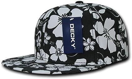 Decky Fleurs Snap Back-Casquette de Baseball-Noir