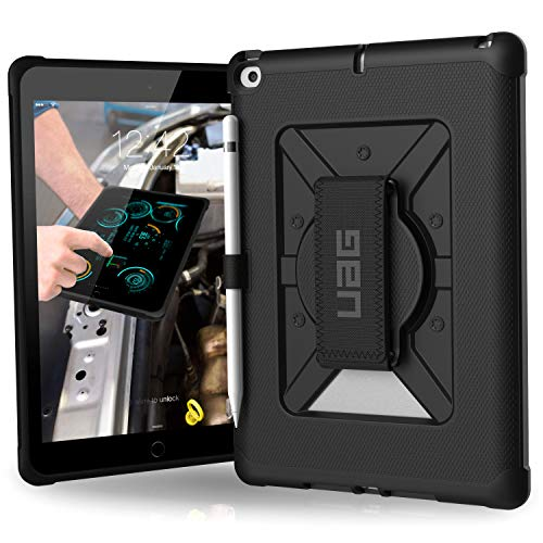 UAG iPad 9.7 (2017 5th Gen & 2018 6th Gen) with Hand Strap Metropolis Feather-Light Rugged [Black] Military Drop Tested iPad Case