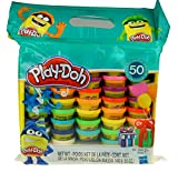 Play-Doh Modeling Compound 50- Value Pack Case of Colors, Non-Toxic, Assorted Colors, 3-Ounce Cans, Ages 2 and up (50 Cans - 1 Pack)
