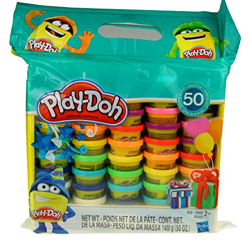 Play-Doh Modeling Compound 50- Value Pack Case of Colors, Non-Toxic, Assorted Colors, 3-Ounce Cans, Ages 2 and up (50 Cans - 1 Pack) by Play-Doh