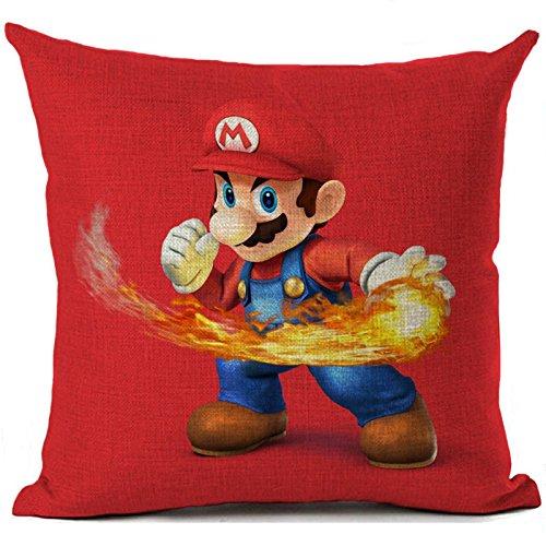 - Oitoere Super Mario Cushion Cover Cartoon Mario Printed Pillow Cover Pillowcase