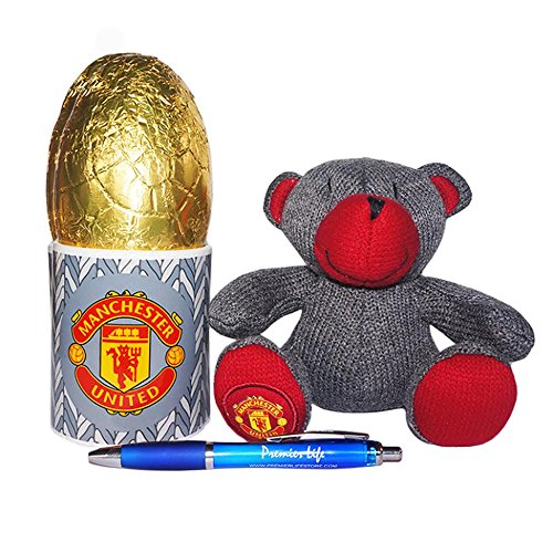 Manchester United Mug and Teddy Bear set with Easter egg