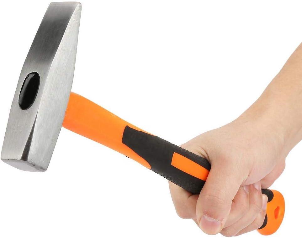 A sixx Duckbill Hammer High Carbon Steel for School for High Hardness Impact Resistance Brick Hammer Flat Head Hammer Hammerhead 300g