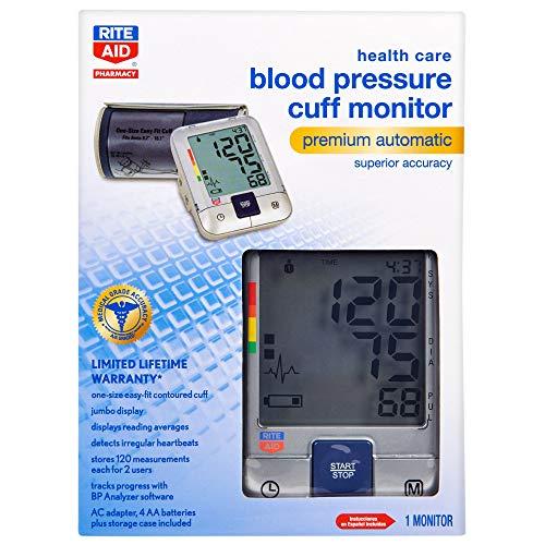 Rite Aid Premium Automatic Blood Pressure Cuff | Digital Blood Pressure Monitor | Superior Accuracy