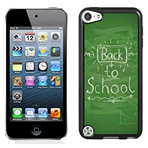 Fashionable And Unique Designed Cover Case For iPod Touch 5 With Back To School Handwriting_Black Phone Case