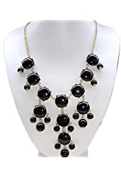 Fashion Statement Necklace Rhinestone Golden Chain Chunky Bib Bubble Bib Women Jewelry