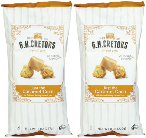 G.H. Cretors Just The Caramel Corn Popcorn, 8 oz, 2 pk