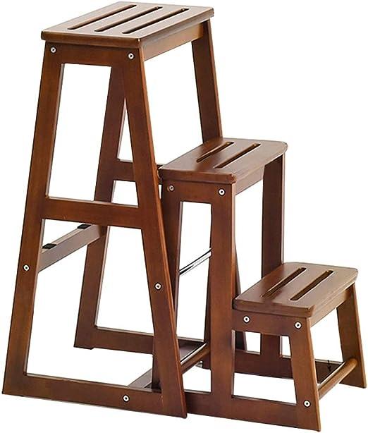 ZENGAI Casa Multifuncional Escalera Taburete Cambio De Banco De Zapatos Plegable Escalera Sillas, Madera Maciza, Uso Dual (Tamaño : 380X610X700MM): Amazon.es: Hogar