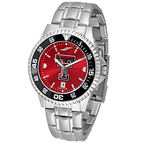 (Texas Tech Red Raiders Competitor Steel AnoChrome Color Bezel Men's Watch)