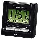 Купить Hama Reise Funk Wecker RC200 (Thermometer, Hintergrundbeleuchtung, zwei Weckzeiten, automatische Zeitanpassung) schwarz