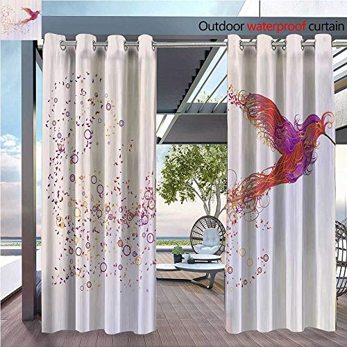 DESPKON Environmental Protection Material Polyester White of Bird Love Home Bathroomati Wild Animals Tale Mythology for Living Room Window,Sun Insulation. W72 x L84 INCH