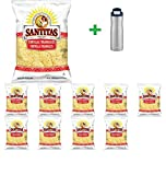Santitas White Corn Tortilla Chips - 11oz(10 PACK) + Contigo Autoseal Chill Stainless Steel Hydration Bottle 24oz(Combo Offer)