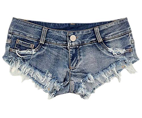 COMVIP Mini Short t Femme en Denim Hot Pants Jean Ultra-Court Bo?te de Nuit Jean Bleu#b