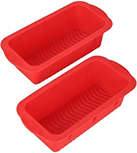 POPBLOSSOM Set of Two Nonstick Loaf Pan for Homemade Bread Making,Soap, Fudge, Meatloaf and More (2 Pack Bread Mold)