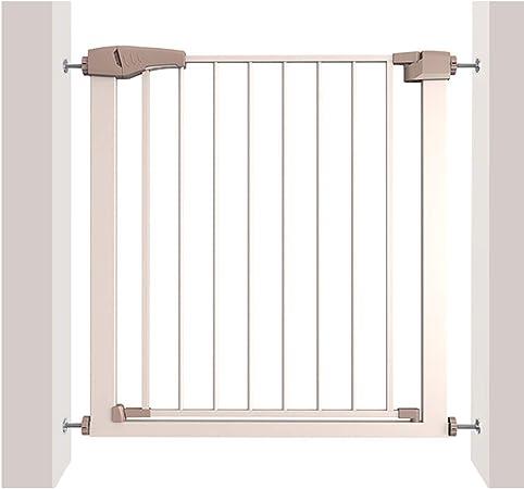LSRRYD Barrera Extensible Perros Metal Puerta De Seguridad Mascotas Barrera De Seguridad Rejilla para Escaleras Doble Bloqueado para Puertas Pasillos Y Escaleras (Size : 75-82x76cm): Amazon.es: Hogar