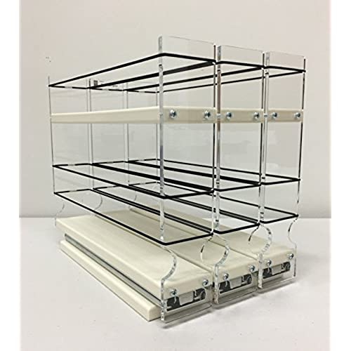 Vertical Spice   222x1.5x10 DC   Spice Rack   3 Drawers   15 Regular/15  Half Size Capacity   Cabinet Mounted   Shallow