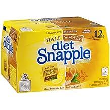 Snapple Diet Half 'n Half Tea, 16 Ounce (12 Bottles)