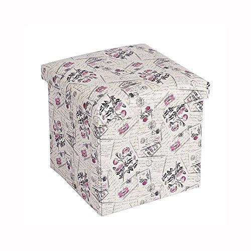pufei-retro-printing-leather-storage-stool-clothing-toys-large-capacity-storage-box