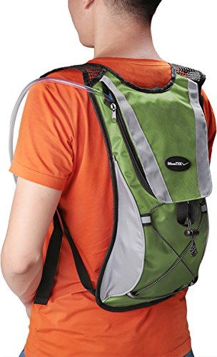 Hydration Pack Water Rucksack Backpack Bladder Bag Cycling Bicycle Bike/Hiking Climbing Pouch + 2L Hydration Bladder (Green)