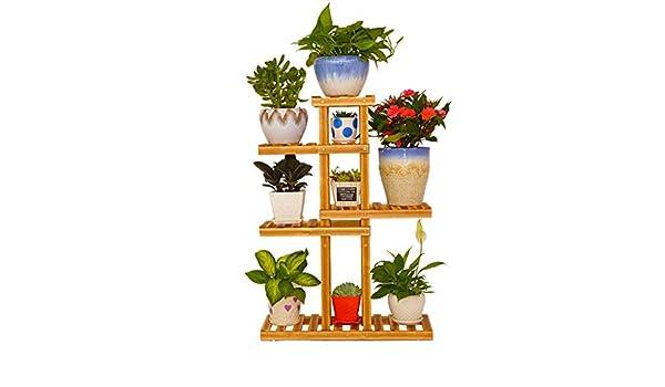 ChenDz Balcón Estante de Flores De Varios Pisos Sala de Estar ...