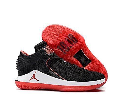 NIKE Men's Air Jordan 32 XXXII Low Black/University Red-White (9 D(M) US) by NIKE
