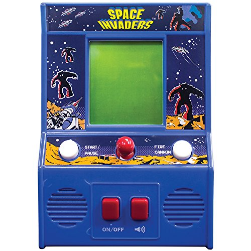 The Bridge Direct Space Invaders Mini Arcade - Portable Game Has Joystic Action And Sounds by The Bridge Direct