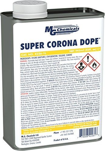 MG Chemicals Super Corona Dope, High Voltage Applications, 4100 V/mil Dielectric Strength, 950mL (1 quart) Bottle, (High Strength 1 Qt Bottles)