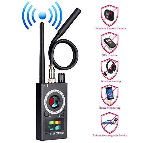 (Anti Spy Hidden Camera Detector, Wireless RF Bug Hidden Camera Lens Detector Radio Wave Signal Detect Full-Range GSM Device Finder for Anti Eavesdropping Candid GPS Tracker)