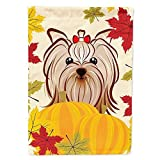Cheap Caroline's Treasures BB2010GF Yorkie Yorkshire Terrier Thanksgiving Garden Flag, Small, Multicolor