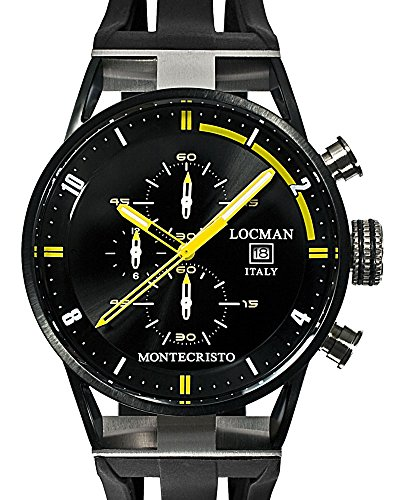 Locman-Montecristo-100-Meter-Quartz-Chronograph-Watch-with-Black-PVD-44mm-Case-0510BKBKFYL0GOK