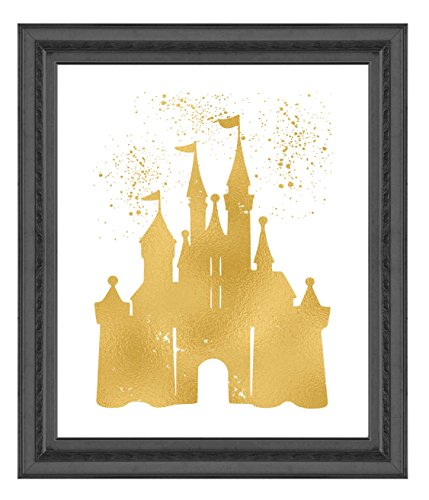 Inspired by Disney Castle and Home - Poster Print Photo Quality - Made in USA - Home Art Print -Frame not included (11x14, (Castle Poster Print)