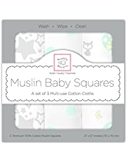 SwaddleDesigns 3 Piece Muslin Squares