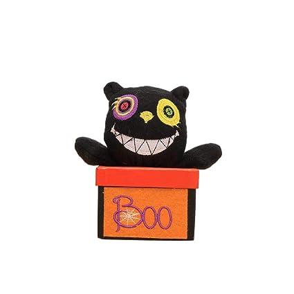 QUICKLYLY Decoración De Halloween Caja Dulces Gato Negro Regalo Creativo