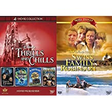 Theme Park Disney Movie Thrills and Chills Collection - Tower of Terror, The Haunted Mansion, Mr. Toad's Wild Ride, The Country Bears, & Swiss Family Robinson (Vault Collection) 5-DVD bundle