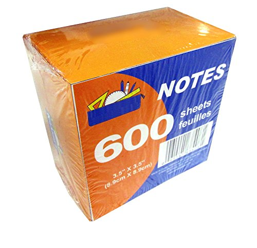 600 Sheet Paper Note Cube Pack (3.5