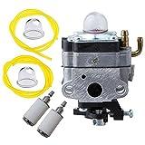 HIFROM 753-1225 Carburetor with Primer Bulb Fuel Line Filter for MTD Troy-Bilt Ryobi Yard Man Bolens Trimmer Tiller 753-04745 753-04296