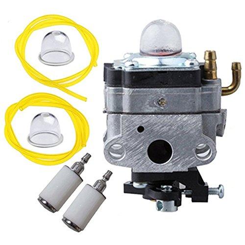 HIFROM 753-1225 Carburetor with Primer Bulb Fuel Line Filter for MTD Troy-Bilt Ryobi Yard Man Bolens Trimmer Tiller 753-04745 753-04296 by HIFROM