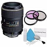 Tokina 100mm f/2.8 at-X M100 AF Pro D Macro Autofocus Lens for Nikon AF-D (International Model) +Deluxe Cleaning Kit + 55mm 3 Piece Filter Kit