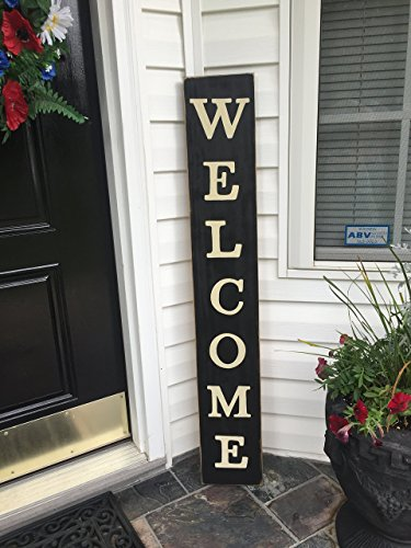 WELCOME Farmhouse Sign RuStic PriMitiVe Plaque You Pick Color OVERSIZED 46