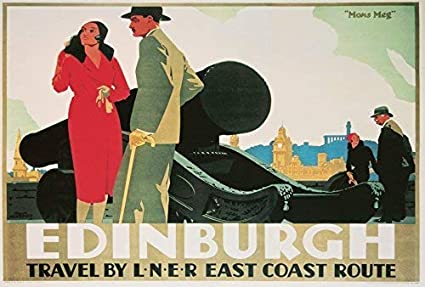 Vintage LNER Up To Scotland Railway Poster A4//A3//A2//A1 Print