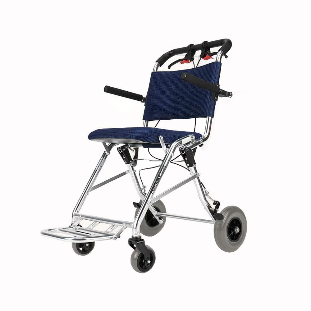 憧れ QIDI ソリッドタイヤ QIDI 車椅子 折りたたみ 長老 軽量 搭乗可能 ソリッドタイヤ アームレスト 輸送 ポータブル アルミニウム合金 長老 (色 : 青) 青 B07MR29QGX, アンティークそっくり:34d78ca2 --- a0267596.xsph.ru