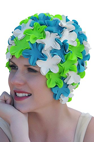 SYNC Original Swimwear Petal Swim Caps I Vintage Retro Flower Bathing Cap Mermaid