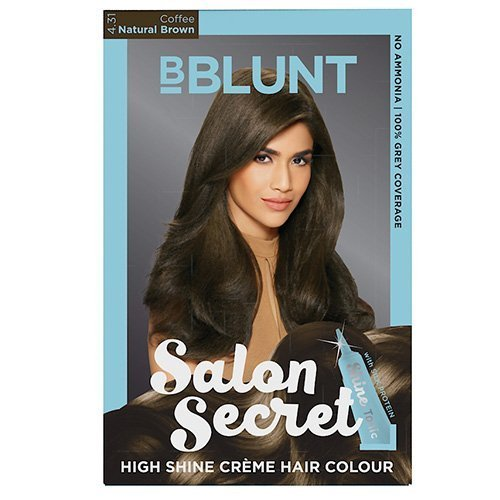 BBLUNT Salon Secret High Shine Creme Hair Colour, Natural Brown 4.31, 100G With Shine Tonic, 8ml by B-Blunt