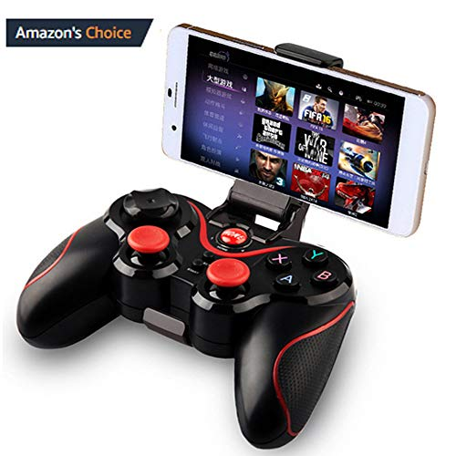 Mobile Game Controller, Wireless Gamepad Multimedia Game Controller Joystick Compatible with iOS Android iPhone iPad Other Phone Windows PC, Perfect for The Most Games