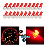 mitsubishi 3000gt speedometer - CCIYU 20x High Power T5 73 74 Wedge Instrument Cluster Speedometer LED Light Bulbs Red