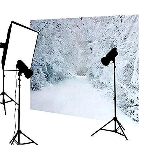 DODOING 5x7ft Photo Scenic Background Backdrop Frozen Snow Trees Winter Wedding Photography Backdrop Vinyl - Frozen Photography Background