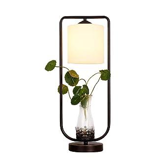 Lqpjjtd Lámpara de mesa creativa pastoral, decoración de plantas ...