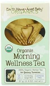Earth Mama Angel Baby Organic mañana té, 16bolsas de té caja de bienestar (Pack de 3)